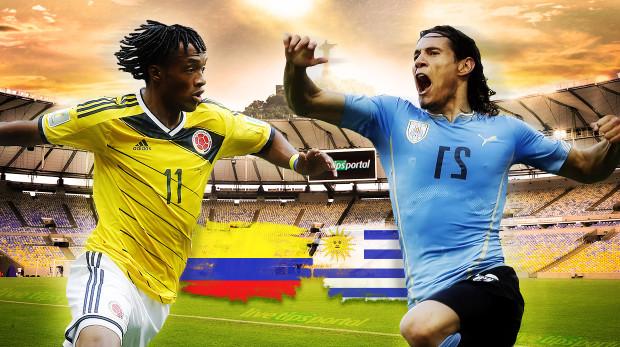 Resultado de imagem para Colômbia vs Uruguay