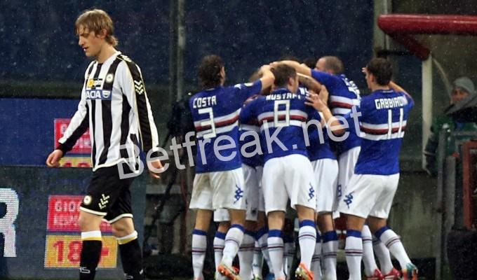 Sampdoria vs udinese betting preview online pool betting